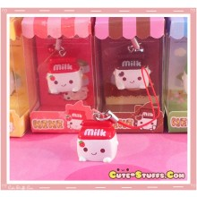 Kawaii Milk Phone Strap! Extremely Rare! Strawberry!