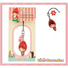 Kawaii Rare Dangle Red Riding Hood  Resin Dust Plug!