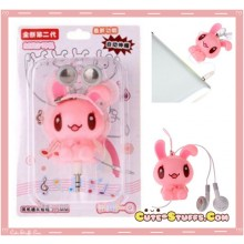 Kawaii Retractable Bunny In-Ear Headphones - Pink!