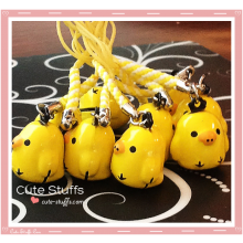 Kawaii Large Kiiroitori Chicken Brass Bell