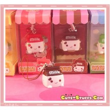 Kawaii Milk Phone Strap! Extremely Rare! Chocolate