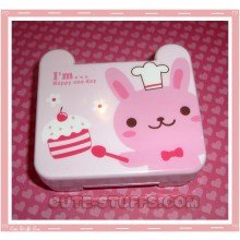 Kawaii Travel Lens Case or Trinket Box! - Pink Bunny Cook