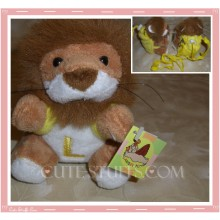 Kawaii Plush Phone Holder Lion Letter L