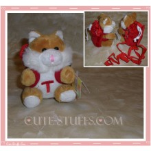 Kawaii Plush Phone Holder Fox or Cat Letter T