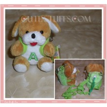 Kawaii Plush Phone Holder Dog Letter A