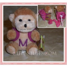 Kawaii Plush Phone Holder Monkey Letter M