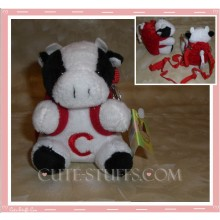 Kawaii Plush Phone Holder Cow Letter C