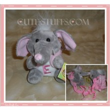Kawaii Plush Phone Holder Elephant Letter E