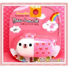 Rare Kawaii Jumbo Bearhouse Animal Pill Correction Tape! - Pink