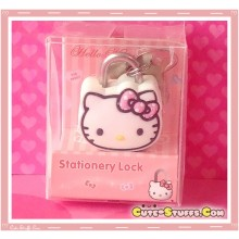 Hello Kitty Pink Polka Dot Kawaii Diary Lock & Keys!