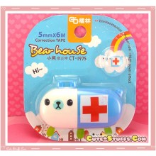 Rare Kawaii Jumbo Bearhouse Animal Pill Correction Tape! - Blue