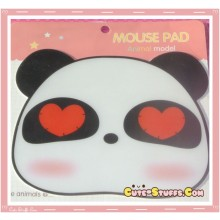 Kawaii Panda Heart Mousepad