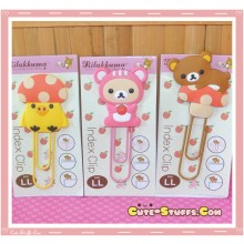 Kawaii San-X Rilakkuma Mushroom Large Clip Bookmark - U Choose!