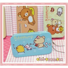 Kawaii Rilakkuma Tin Keychain Blue Duck