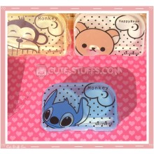 Kawaii Translucent Travel Lens Case or Trinket Box! - Stitch Blue