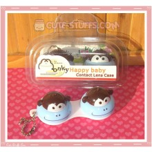 Kawaii Animal Series 1 Capsule Contact Lense Case! - Blue Monkey