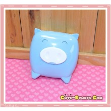 Kawaii Monokuro Boo Pig Contact Lens Case - Blue