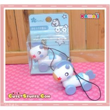 Kawaii Rilakkuma's Wood Pull Along Horse Blue Phone Strap! Rare!
