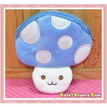 Kawaii Plush Mushroom Coin Purse! Blue