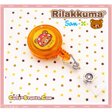 Kawaii Rare Rilakkuma Retractable ID Badge Reel! San-x