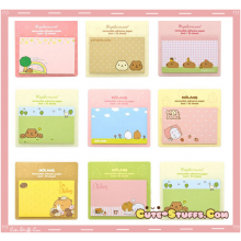 Kawaii Rare Rilakkuma or Kapibarasan or Molang Memo Post It Notes! 3 Sets