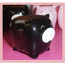 Kawaii Monokuro Boo Pig Pencil Sharpener - Black