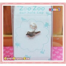 Kawaii Gold Dangle Dust Plug Charm! Bird