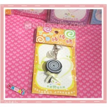 Kawaii Rare Flashing Lolli Pop Phone Charm! Chocolate!
