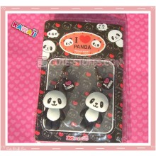 Kawaii Rare Panda Phone Strap Set! Flat!