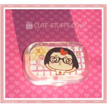 Kawaii Sparkle Travel Lens Case or Trinket Box! - Caicai Checkered