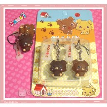 Kawaii Rare Chibi Maru Dog Phone Strap Set!