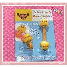 Kawaii San-x 2 PC Cord Holder Kiiroitori