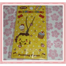 Kawaii Unique Pudding Flan Phone Strap charm! Yellow!