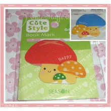 Kawaii Mushroom Double Sided Book Mark