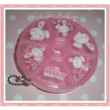 Kawaii Pink Bunny Pill or Trinket Box