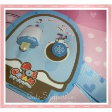 Kawaii Rare Flashing Ice Cream Pop Phone Charm w/ Wrist strap! Blueberry!