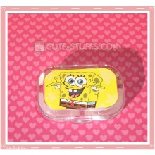 Kawaii Sparkle Travel Lens Case or Trinket Box! - Spongebob Smile