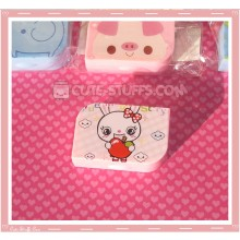 Kawaii Opaque Travel Lens Case or Trinket Box! - Bunny w/ Apple