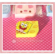 Kawaii Opaque Travel Lens Case or Trinket Box! - Spongebob Laugh