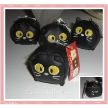 Large Kawaii Black Cat Leather Material Phone Strap