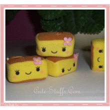Kawaii Plush Square Phone Charm Yellow