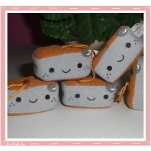 Kawaii Plush Square Phone Charm Grey