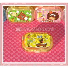 Kawaii Sparkle Travel Lens Case or Trinket Box! - Spongebob w/ Patrick Stars