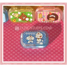 Kawaii Sparkle Travel Lens Case or Trinket Box! - Doraemon Polka Dots