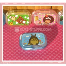 Kawaii Sparkle Travel Lens Case or Trinket Box! - Totoro