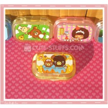Kawaii Sparkle Travel Lens Case or Trinket Box! - Hot Spring Bears