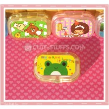 Kawaii Sparkle Travel Lens Case or Trinket Box! - Kerori Face