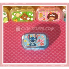 Kawaii Sparkle Travel Lens Case or Trinket Box! - Stitch Sitting w/ Flowers