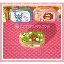 Kawaii Sparkle Travel Lens Case or Trinket Box! - Rilakkuma Clover