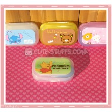 Kawaii Pastel Travel Lens Case or Trinket Box! - Winnie the Pooh Green